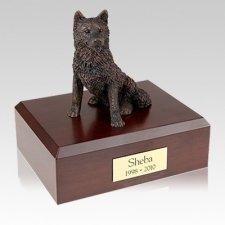 Husky Bronze Large Dog Urn