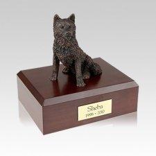 Husky Bronze Medium Dog Urn