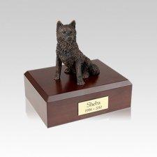 Husky Bronze Small Dog Urn