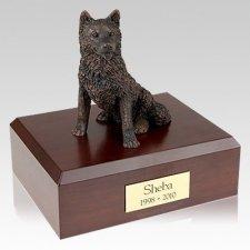 Husky Bronze X Large Dog Urn