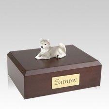 Husky Gray Laying Large Dog Urn