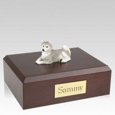 Husky Gray Laying X Large Dog Urn