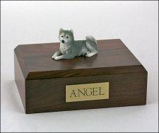 Husky Gray Resting X Large Dog Urn