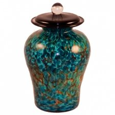 Hydroid Glass Pet Cremation Urn