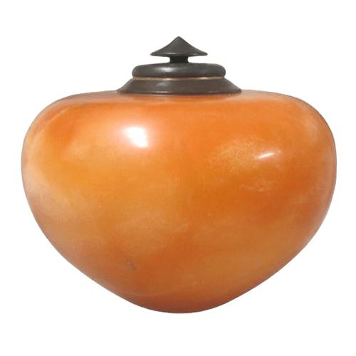 Baltic Orange Alabaster Cremation Urn