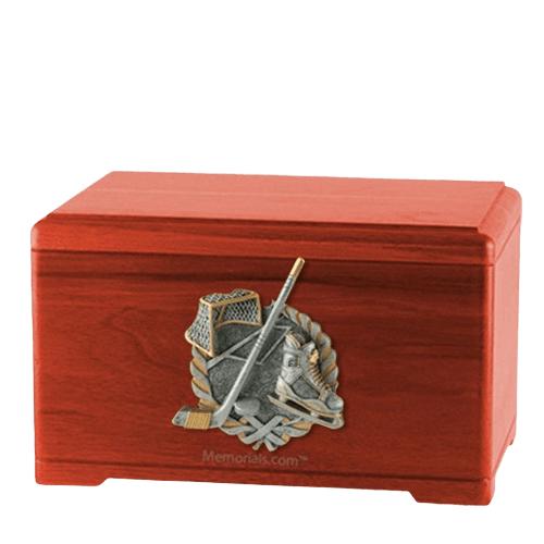 Ice Hockey Cherry Cremation Urn