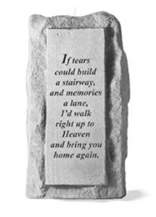 If Tears Could Build Tall Votive Stone