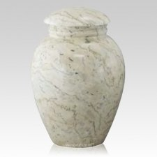 Illume Ecru Marble Urn