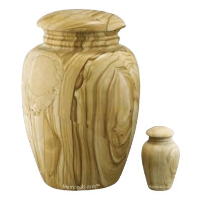 Illume Teak Marble Cremation Urns