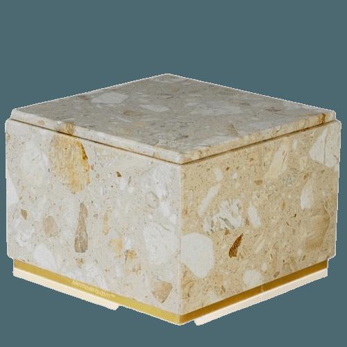 Immensita Perlato Marble Cremation Urn