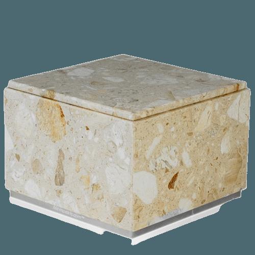 Immensita Silver Perlato Marble Urn
