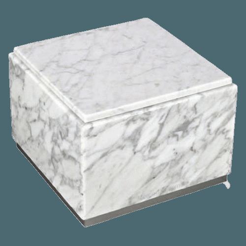 Immensita Silver Bianco Marble Urn