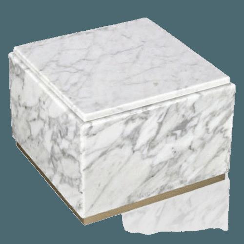 Immensita Bianco Marble Urns