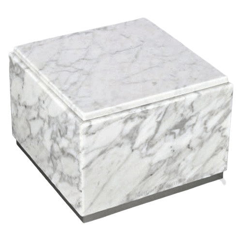 Immensita White Silver Urn For Two