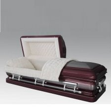 Imperial Burgundy Steel Casket