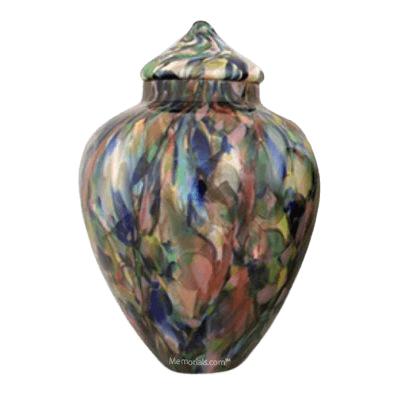 Impressionist Glass Cremation Urn