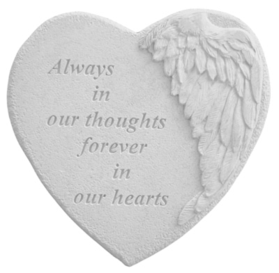 In Our Thoughts Heart Stone