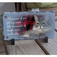 In Color Slate Pet Memorial Plaque