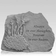In Our Hearts Lavender Memorial Stone