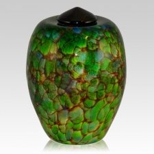 In The Jungle Glass Cremation Urn