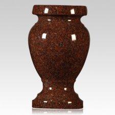 India Red Granite Vase