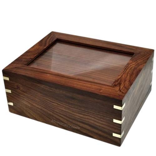 Indian Rosewood Pet Photo Cremation Urn