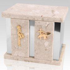 Infinita Perlato Silver Marble Urn For Two
