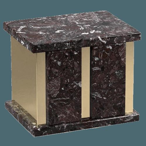 Infinita Rosso Levanto Marble Companion Urn