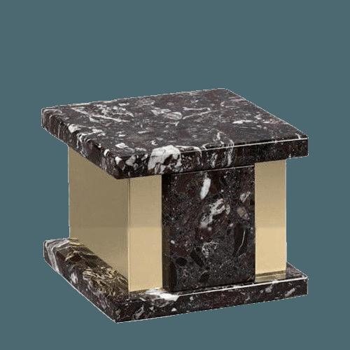 Infinita Rosso Levanto Marble Medium Urn