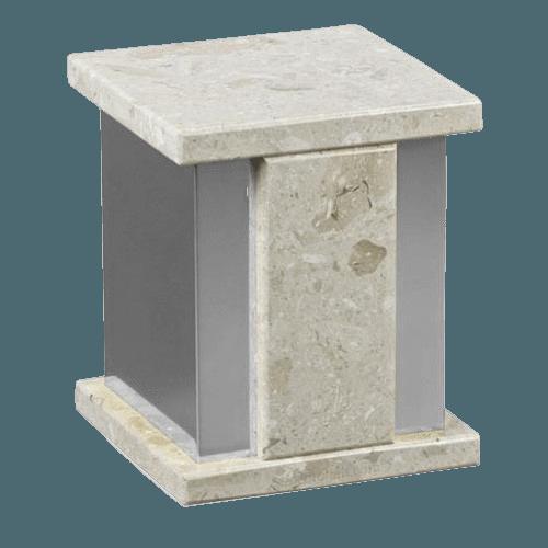 Infinita Silver Perlato Marble Urn