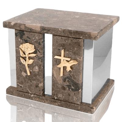 Infinita Silver Rosatica Marble Companion Urn