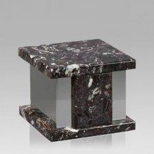 Infinita Silver Rosso Levanto Marble Medium Urn