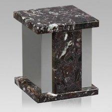 Infinita Silver Rosso Levanto Marble Urn