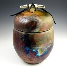 Infinite Love Raku Cremation Urn