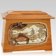 Infinitely Mahogany Aristocrat Cremation Urn