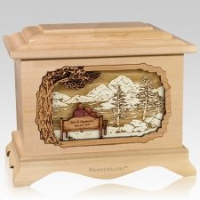 Infinitely Maple Cremation Urn
