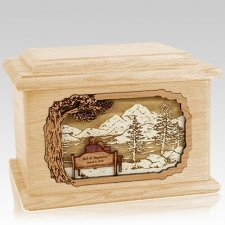 Infinitely Maple Memory Chest Cremation Urn