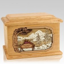Infinitely Oak Memory Chest Cremation Urn
