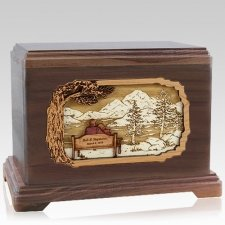 Infinitely Walnut Hampton Cremation Urn