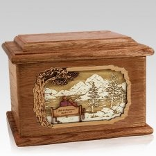 Infinitely Walnut Memory Chest Cremation Urn
