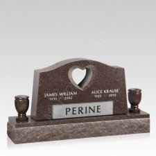 Infinity Companion Granite Headstone