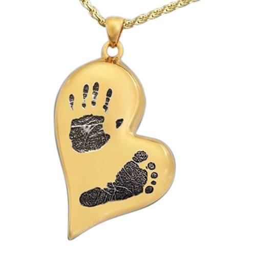 Infinity Heart 14k Gold Cremation Print Keepsake