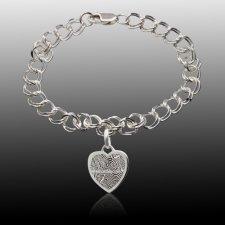 Infinity Heart Print Bracelet