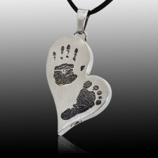 Infinity Heart Stainless Cremation Print Keepsake
