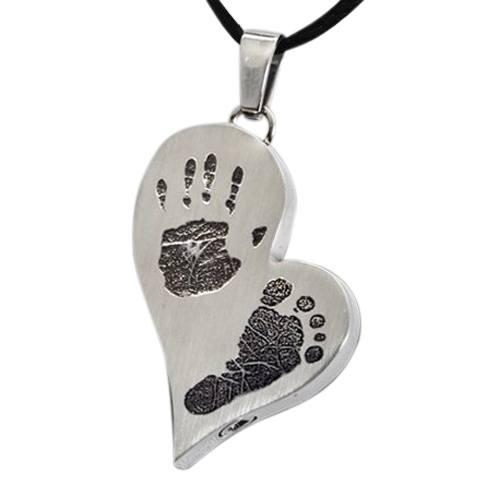 Infinity Heart Stainless Cremation Print Keepsake