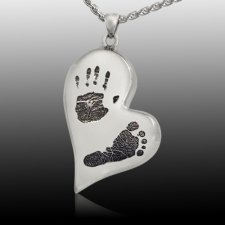 Infinity Heart Sterling Cremation Print Keepsake