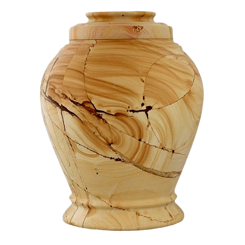 Infinity Teak Cremation Urn