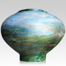 Ireland Wood Cremation Urn