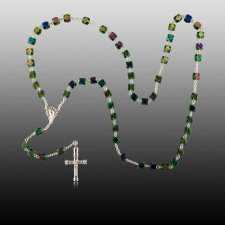 Iridescent Cremation Rosaries