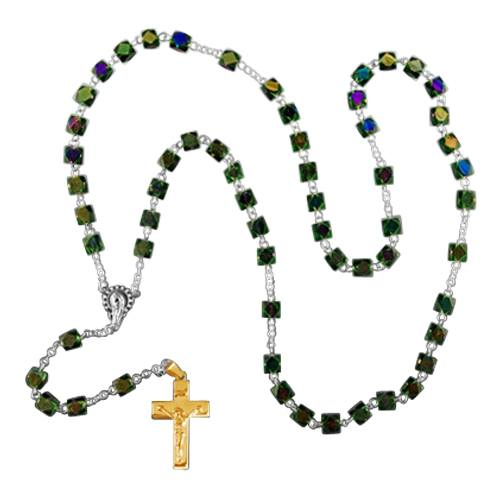Iridescent Gold Cremation Rosary